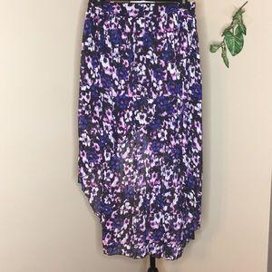Charlotte Russe Hi Low Skirt Size Medium Floral